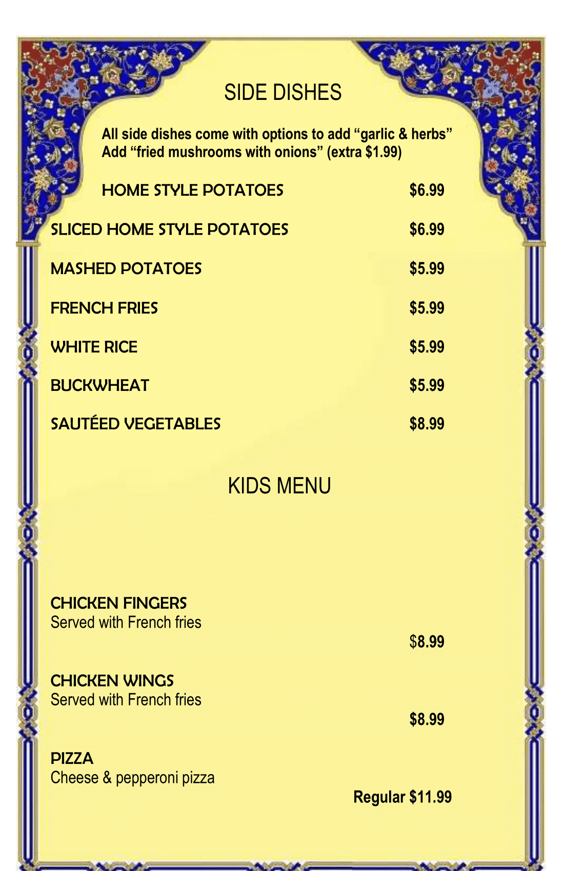 Final menu 1-10